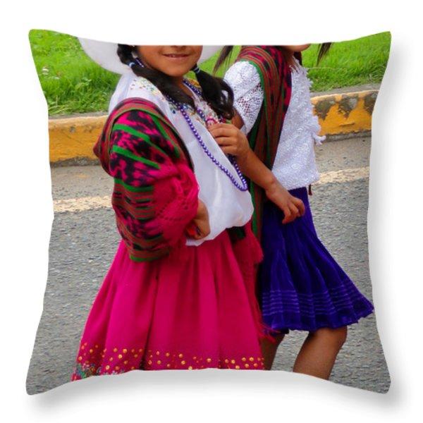 Cuenca Kids 58 Throw Pillow by Al Bourassa