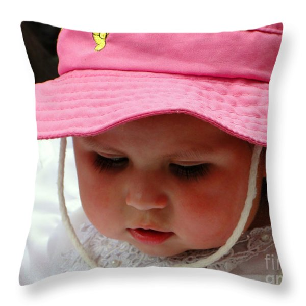 Cuenca Kids 6 Throw Pillow by Al Bourassa
