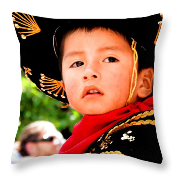 Cuenca Kids 64 Throw Pillow by Al Bourassa