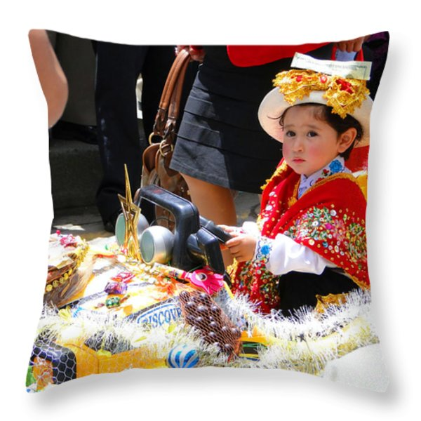 Cuenca Kids 65 Throw Pillow by Al Bourassa