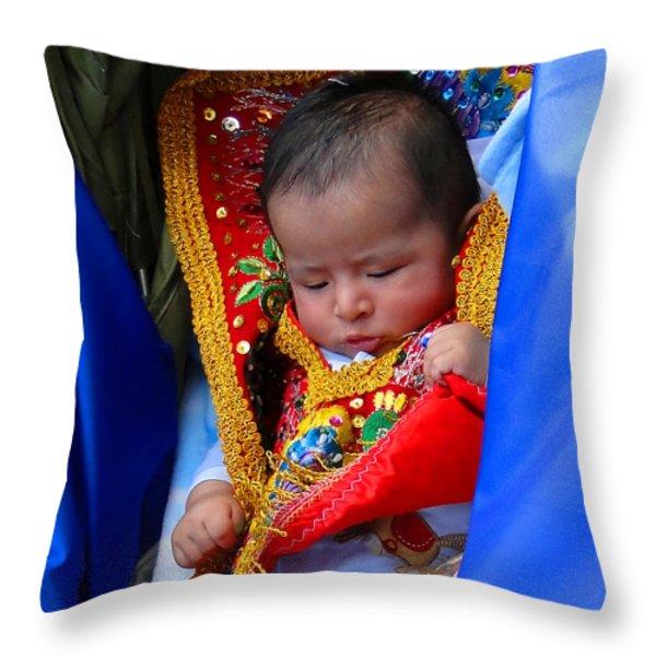 Cuenca Kids 66 Throw Pillow by Al Bourassa
