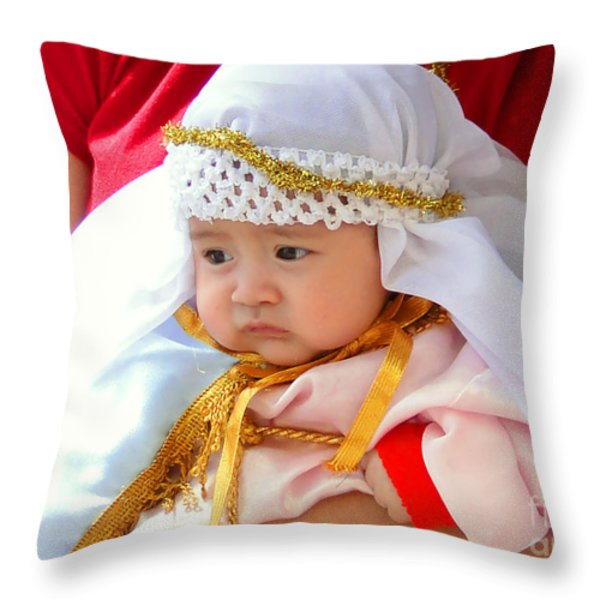 Cuenca Kids 69 Throw Pillow by Al Bourassa