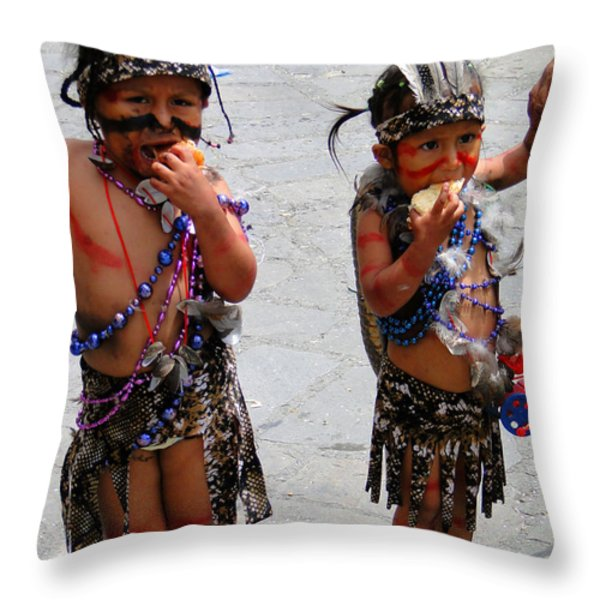 Cuenca Kids 71 Throw Pillow by Al Bourassa