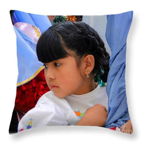 Cuenca Kids 73 Throw Pillow by Al Bourassa