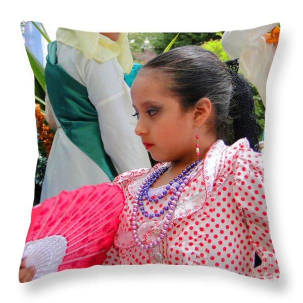Cuenca Kids 74 Throw Pillow by Al Bourassa
