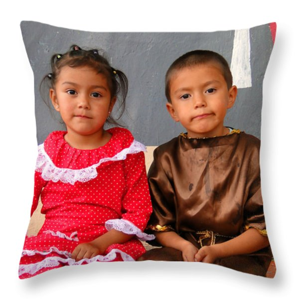 Cuenca Kids 76 Throw Pillow by Al Bourassa