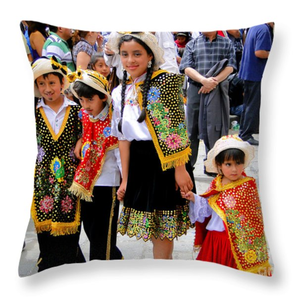 Cuenca Kids 80 Throw Pillow by Al Bourassa