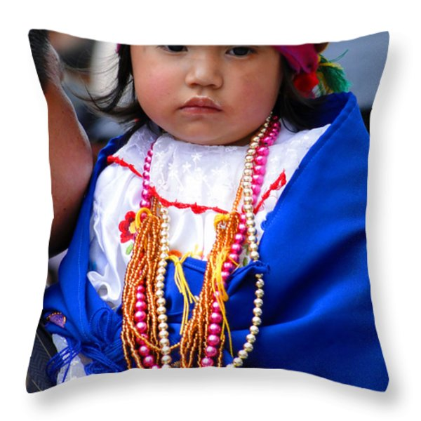 Cuenca Kids 81 Throw Pillow by Al Bourassa