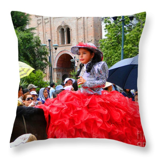 Cuenca Kids 84 Throw Pillow by Al Bourassa