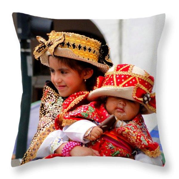 Cuenca Kids 88 Throw Pillow by Al Bourassa