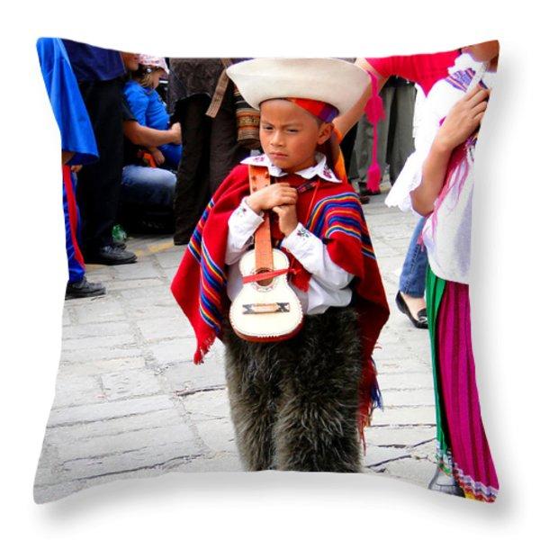 Cuenca Kids 91 Throw Pillow by Al Bourassa