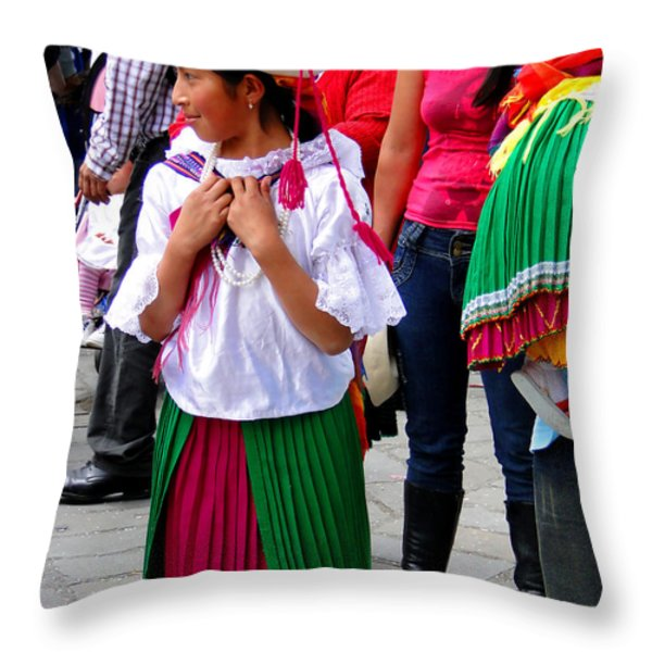 Cuenca Kids 92 Throw Pillow by Al Bourassa