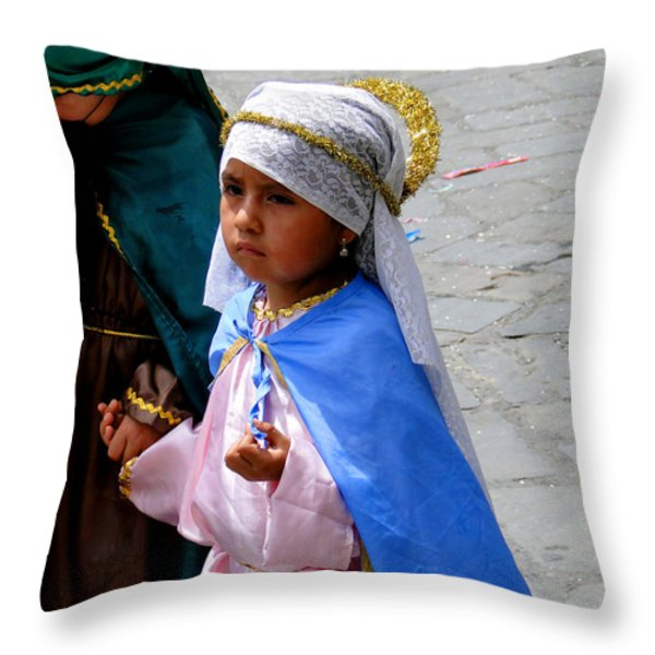 Cuenca Kids 98 Throw Pillow by Al Bourassa