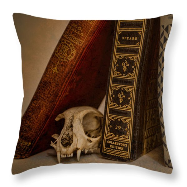 Curiosity Killed The Cat Throw Pillow by Heather Applegate