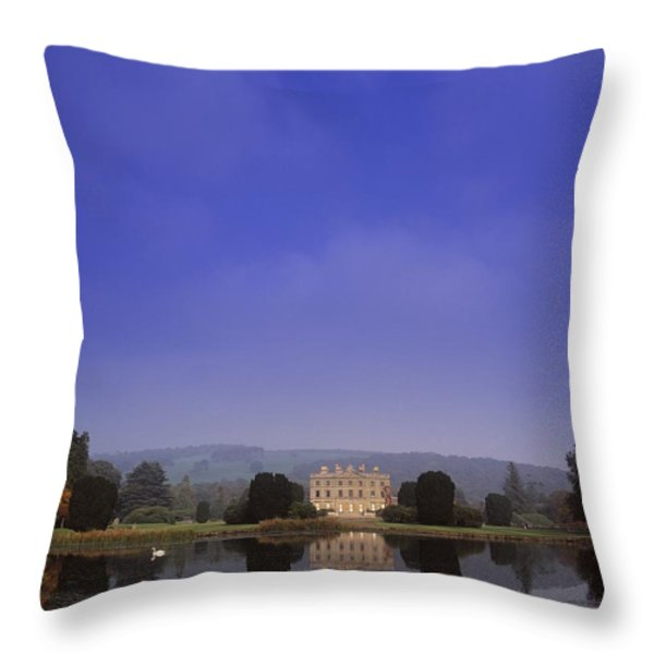 Curraghmore House, Portlaw, Co Throw Pillow by The Irish Image Collection