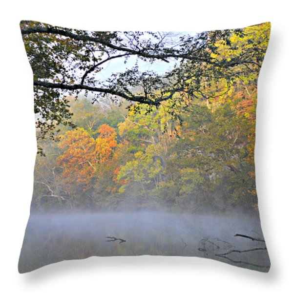 Current River Fall 44r Throw Pillow by Marty Koch