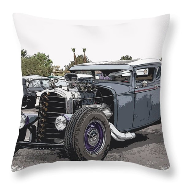 Custom Model A Coupe Throw Pillow by Steve McKinzie
