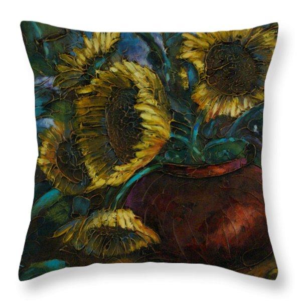 Cut Short Throw Pillow by Michael Lang
