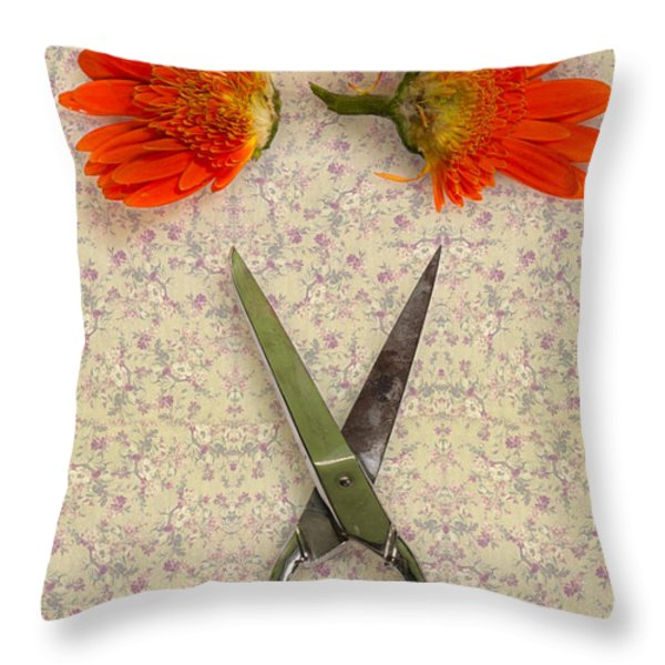 cutting flowers Throw Pillow by Joana Kruse