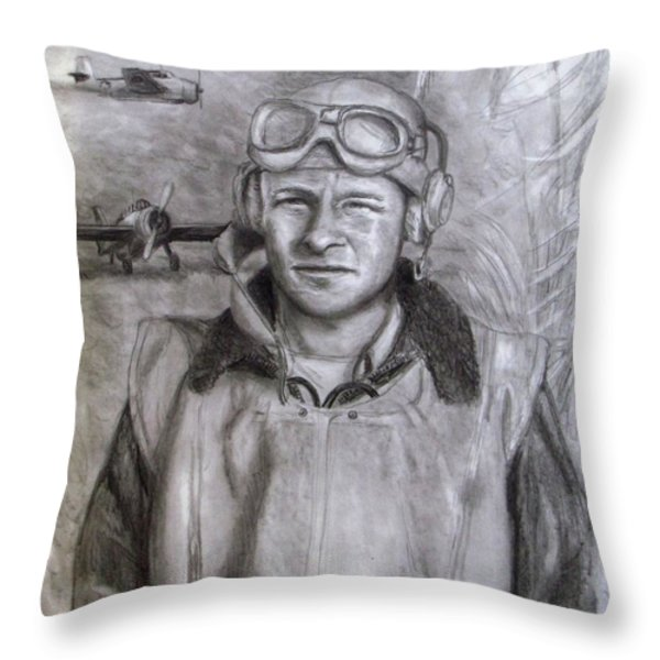 Dad Ww2 Throw Pillow by Jack Skinner