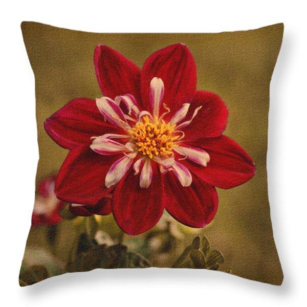 Dahlia Throw Pillow by Sandy Keeton