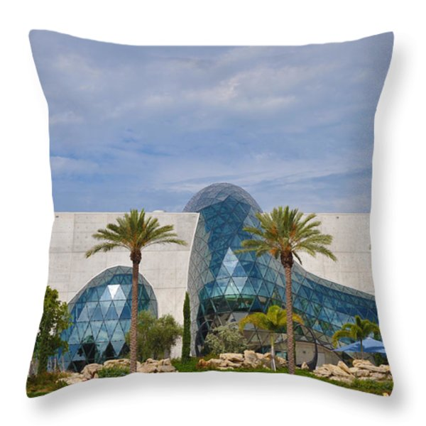 Dali Museum Throw Pillow by Bill Cannon