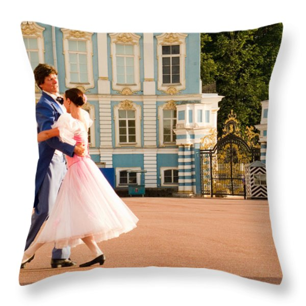 Dance at Saint Catherine Palace Throw Pillow by David Smith