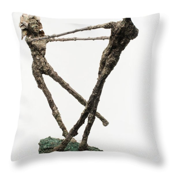 Dance on a Hill Top back view Throw Pillow by Adam Long