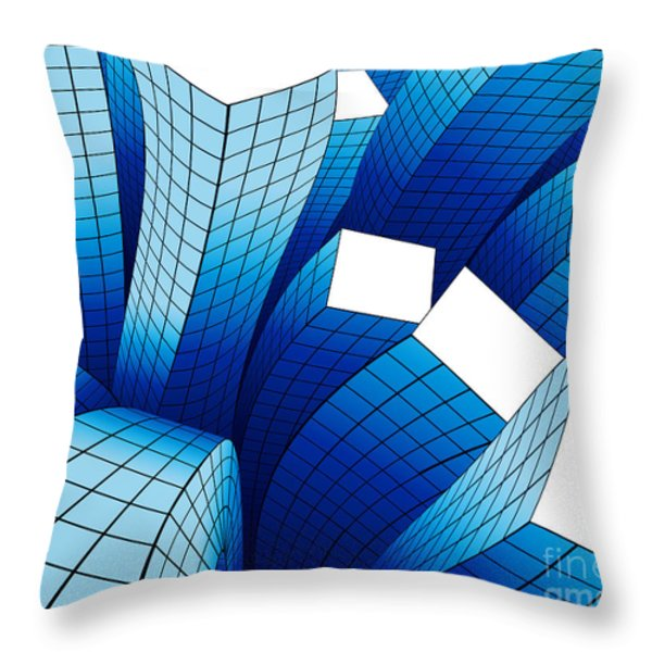 Dancing Buildings Throw Pillow by Atiketta Sangasaeng