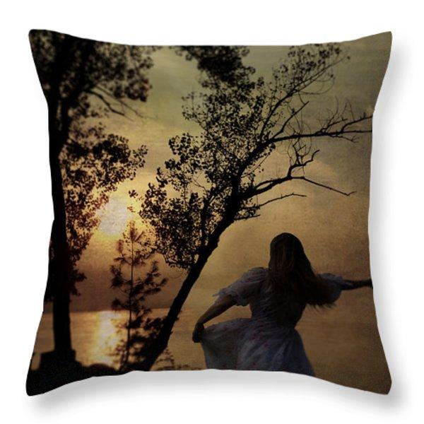 Dancing Girl Throw Pillow by Joana Kruse