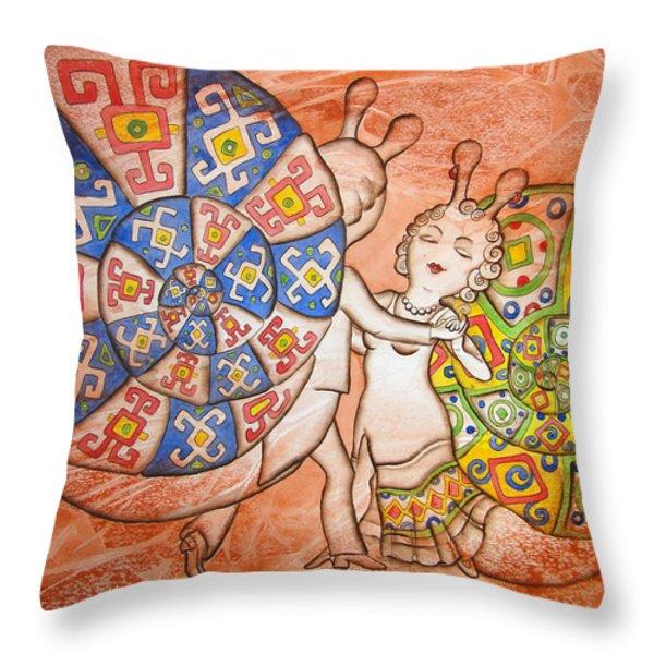 Dancing-master Throw Pillow by Khromykh Natalia