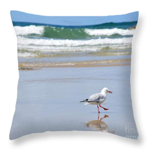 Dancing On The Beach Throw Pillow by Kaye Menner