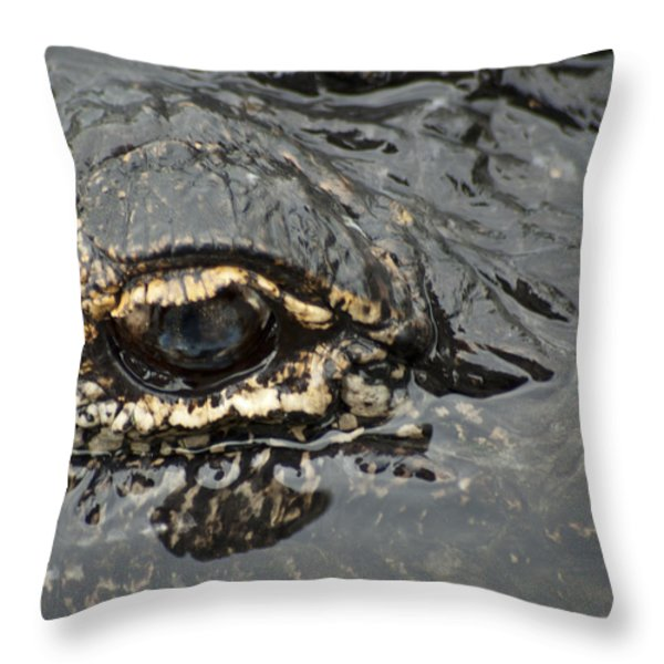 Dangerous Stalker Throw Pillow by Carolyn Marshall