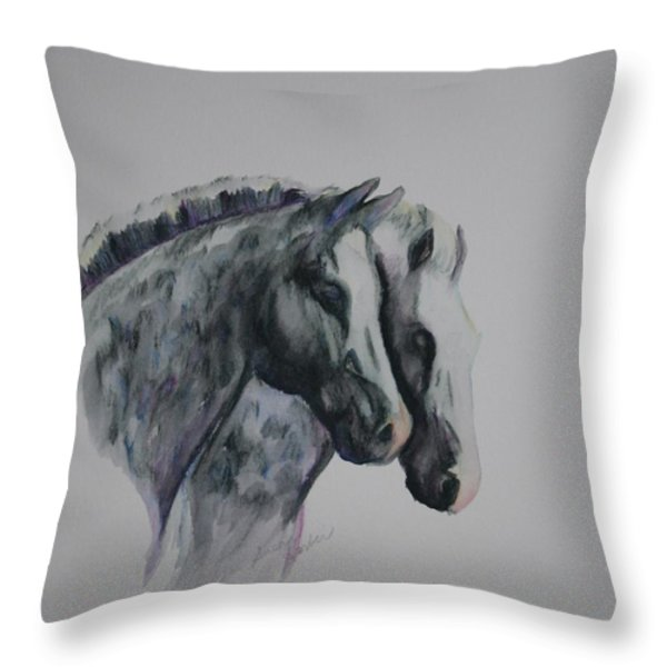 Dapple Duo Throw Pillow by Susan Herber