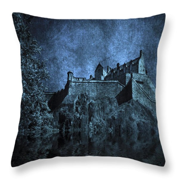 Dark Castle Throw Pillow by Svetlana Sewell