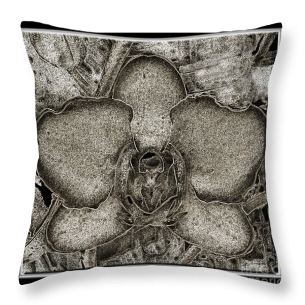 Dark Orchid Throw Pillow by Debbie Portwood