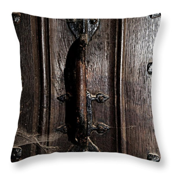 Dark Tales In The Canterbury Cathedral Throw Pillow by Lisa Knechtel