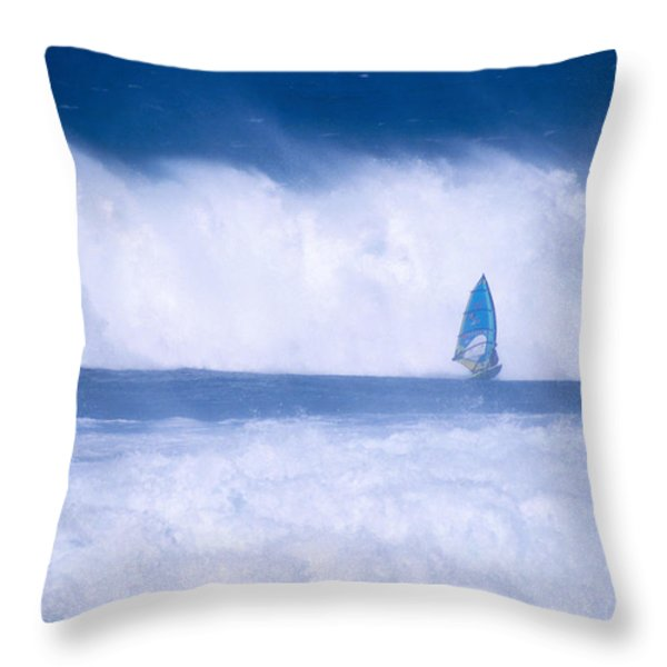 Dave Nash At HoOkipa Throw Pillow by Erik Aeder - Printscapes