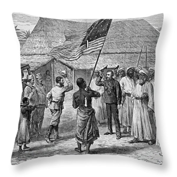 David Livingstone, Scottish Missionary Throw Pillow by Photo Researchers