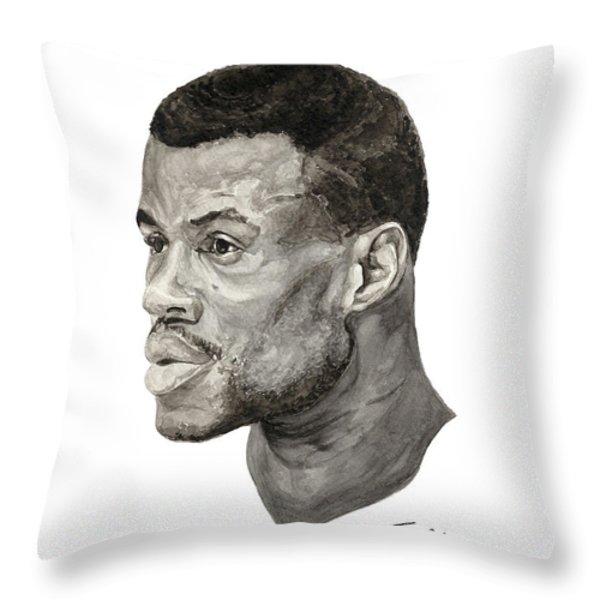 David Robinson Throw Pillow by Tamir Barkan