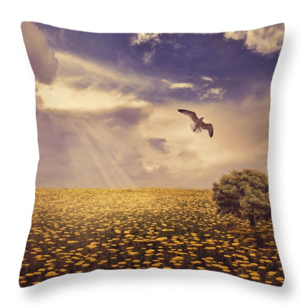 Daydream Throw Pillow by Lourry Legarde