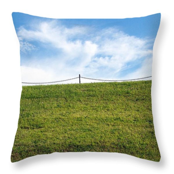 Daydreams- nature photograph Throw Pillow by Linda Woods