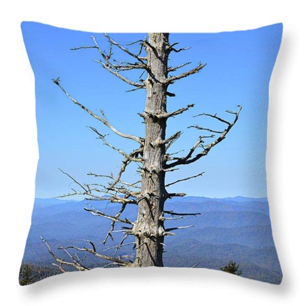 Dead Tree Throw Pillow by Susan Leggett