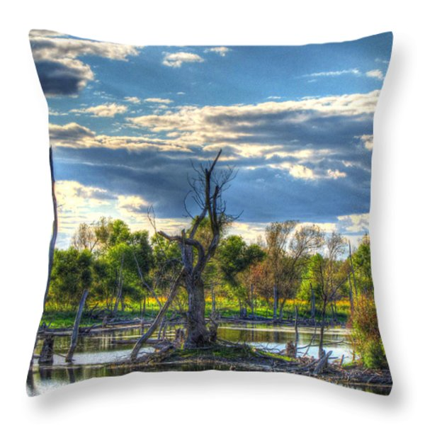 Dead Trees Throw Pillow by Jackie Novak
