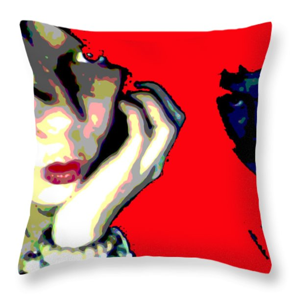 Deadly Kisses Throw Pillow by Jimi Bush