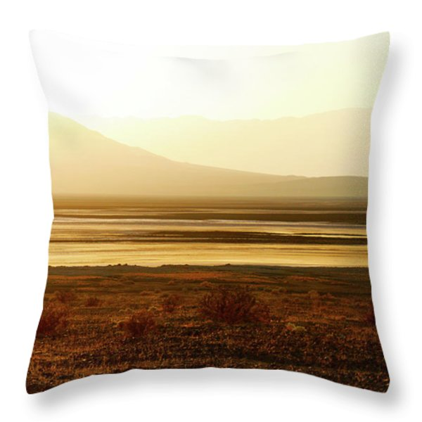 Death Valley - A natural geologic museum Throw Pillow by Christine Till