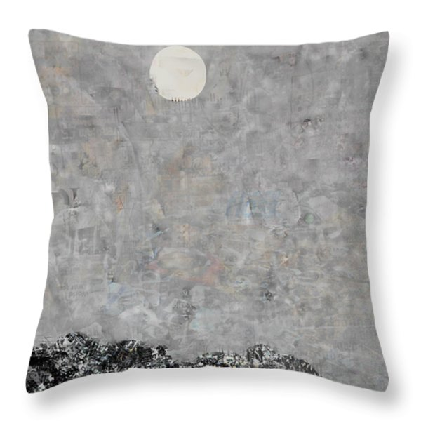 Debt Mountain Throw Pillow by Andy  Mercer