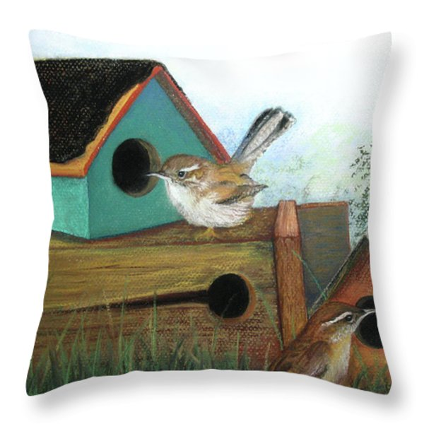 Decisions Decisions Throw Pillow by Lorraine McFarland