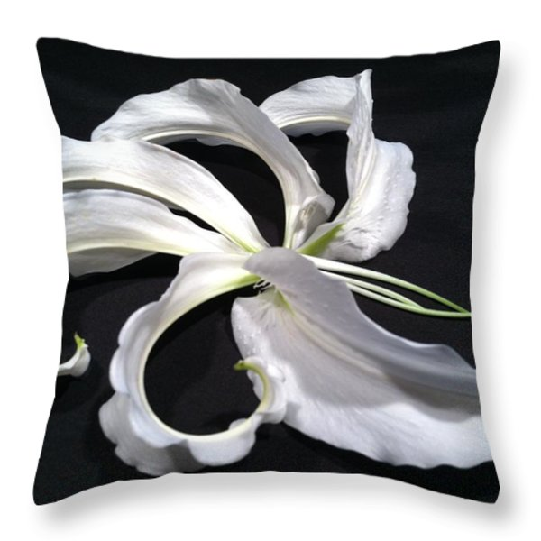 Deconstructed Lily Throw Pillow by Anna Villarreal Garbis