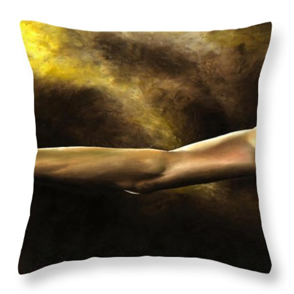 Dedication to a Performance Throw Pillow by Richard Young